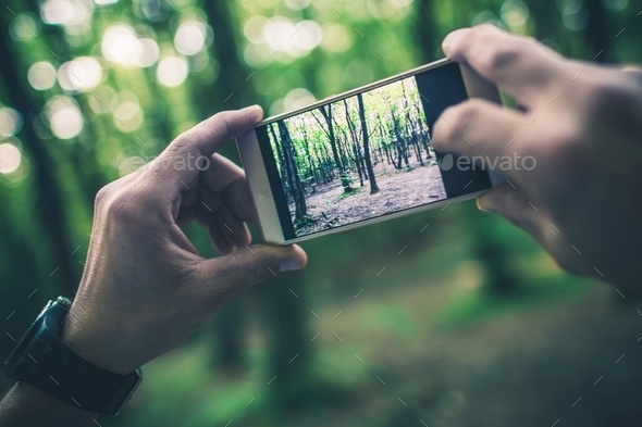 Taking Travel Pictures - Stock Photo - Images