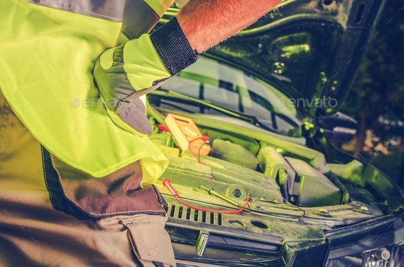 Road Assistance Mechanic - Stock Photo - Images