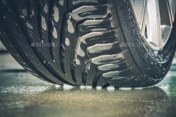 Brand New Car Tire - Stock Photo - Images