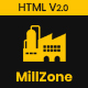 MillZone Insdustry & Factory Base HTML Template - ThemeForest Item for Sale