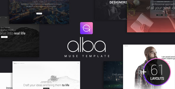 Alba Muse Template - Creative Muse Templates