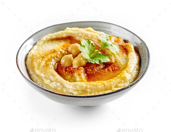 bowl of hummus - Stock Photo - Images