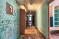 Corridor with open doors in an abandoned old building - PhotoDune Item for Sale