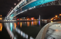 Bridge across the Moskva River. Night view from embankment - PhotoDune Item for Sale
