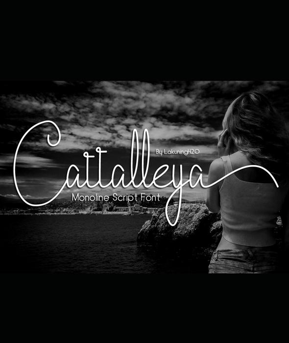 Cattalleya - Hand-writing Script