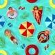 Summer Pool Seamless Pattern Vector Illustration