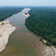 Flyover a Great Sand Jungle River - VideoHive Item for Sale