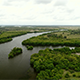 Flyover a Three Forked River - VideoHive Item for Sale