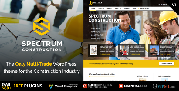 Spectrum - Multi-Trade Construction Business Theme - Business Corporate