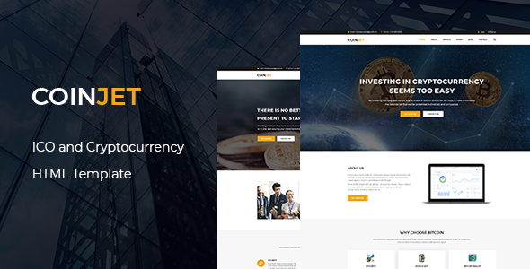 CoinJet | Bitcoin & Crypto Currency  HTML Template