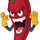 Cartoon Chili Character