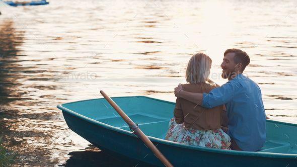 Young couple in summer - Stock Photo - Images