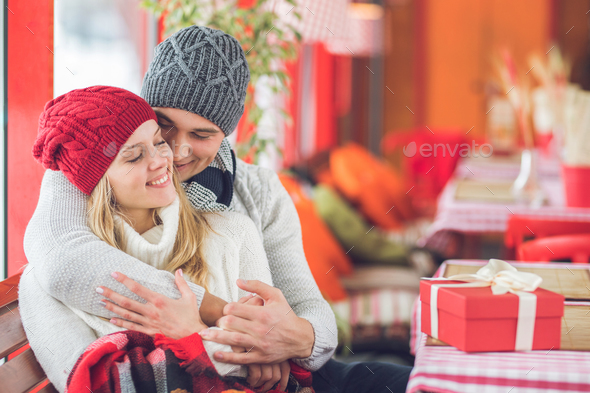 Smiling young couple - Stock Photo - Images