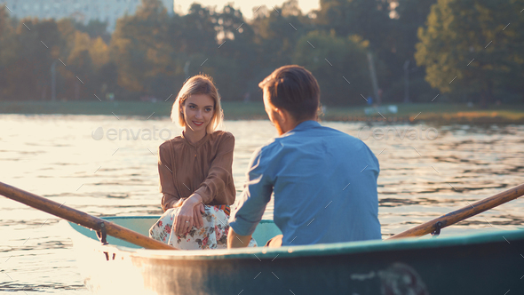 Smiling couple in love - Stock Photo - Images