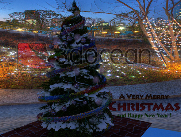 CLASSIC CHRISTMAS TREE. - 3DOcean Item for Sale