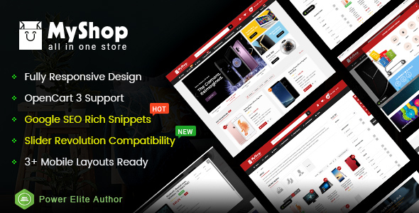 MyShop – Top Multipurpose OpenCart 3 Theme (3+ Mobile Layouts Included)