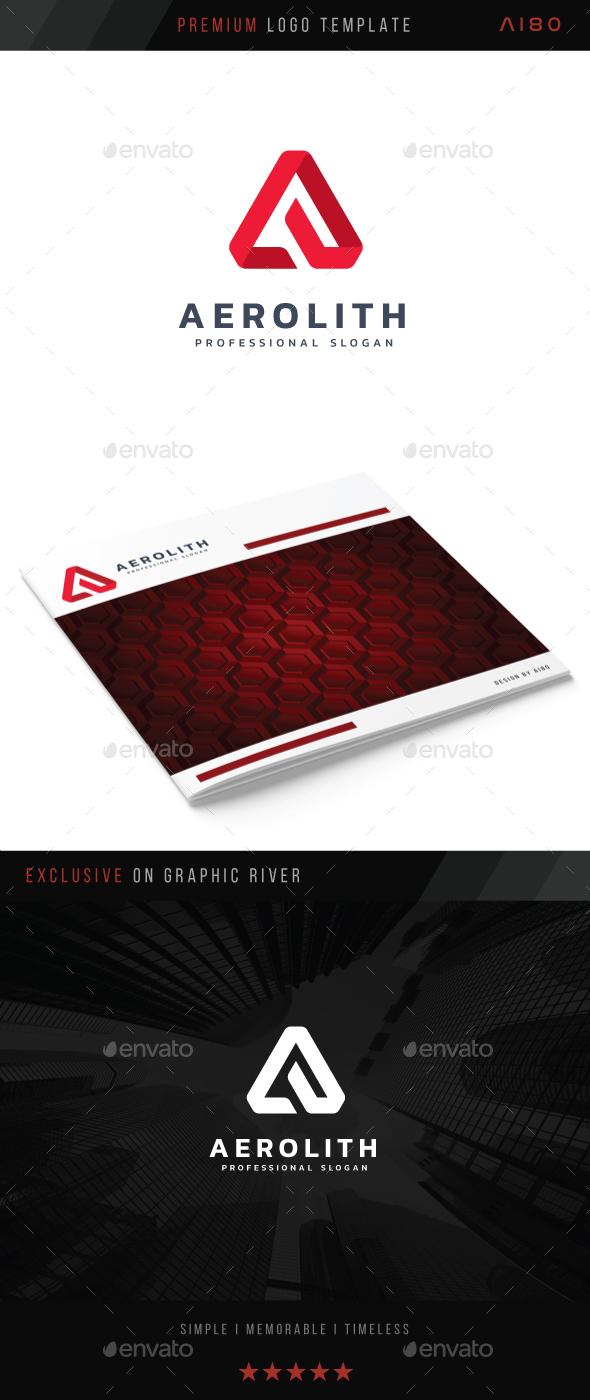 Letter A - Aerolith Logo - Abstract Logo Templates
