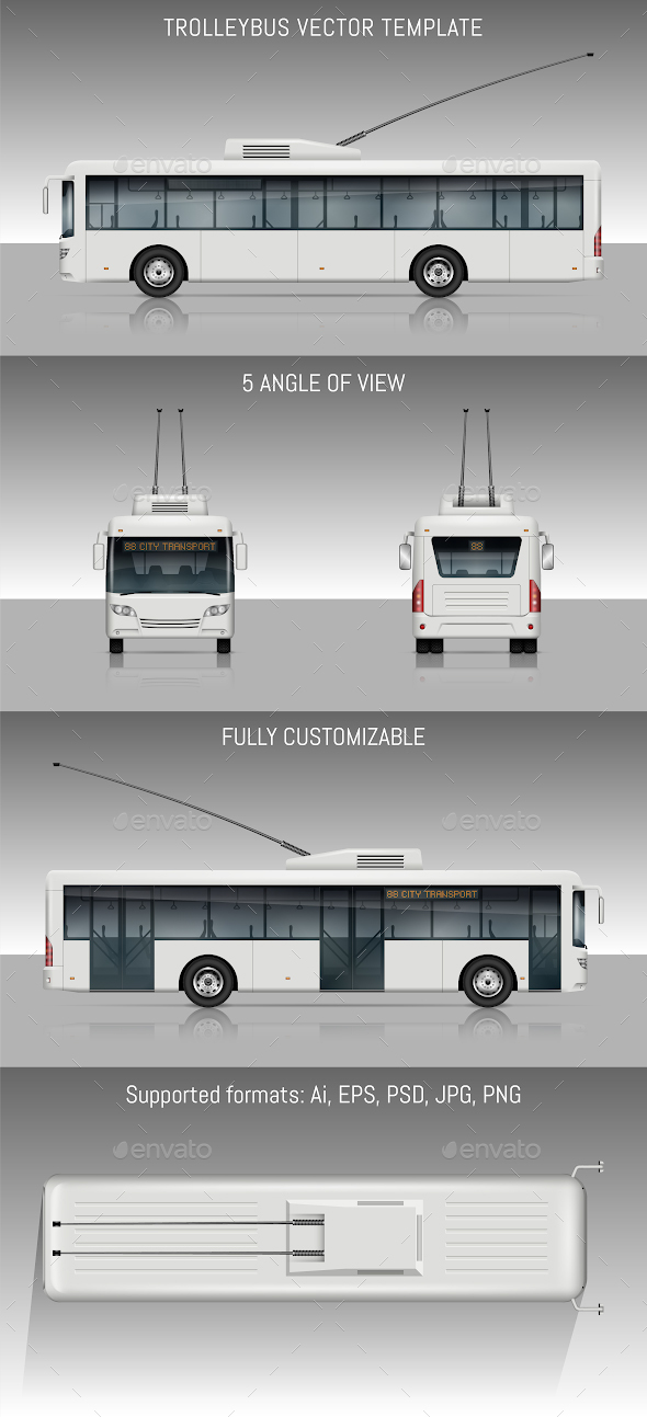 Trolleybus - Man-made Objects Objects