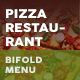 Pizza Restaurant Bifold / Halffold Menu 3