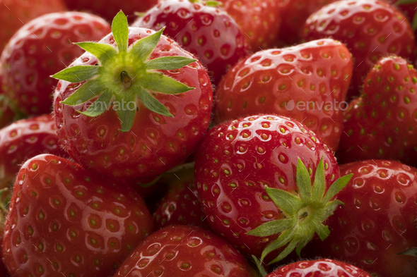 Fresh ripe red strawberries - Stock Photo - Images