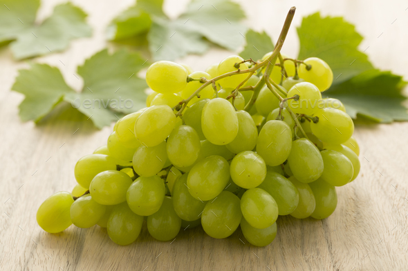 Bunch of fresh green grapes - Stock Photo - Images