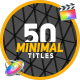 50 Minimal Titles | FCPX & Motion - VideoHive Item for Sale