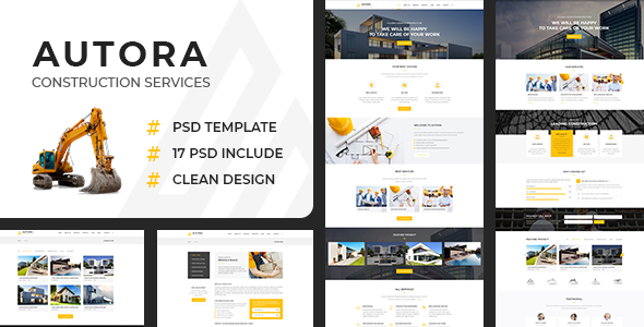 Autora – Construction Business PSD Template