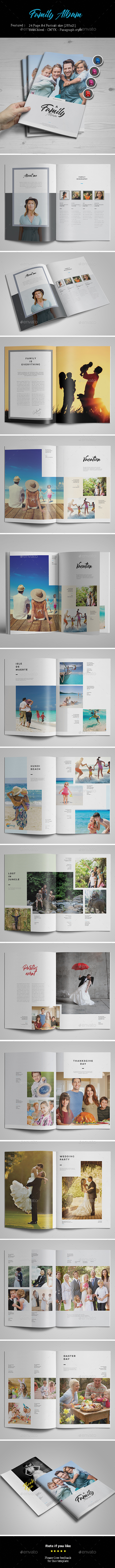 Family Album Template - Photo Albums Print Templates