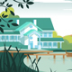 Country House on River Bank - GraphicRiver Item for Sale