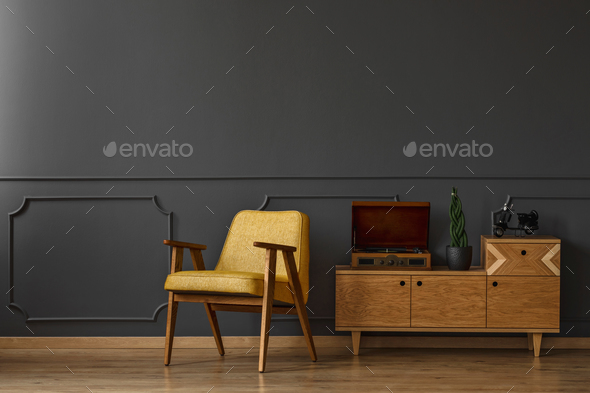Armchair and cabinet - Stock Photo - Images