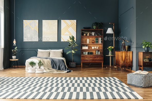 Open room with rug - Stock Photo - Images