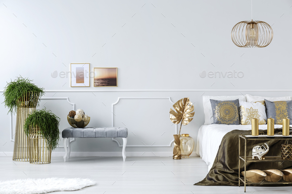 Plants in bedroom - Stock Photo - Images