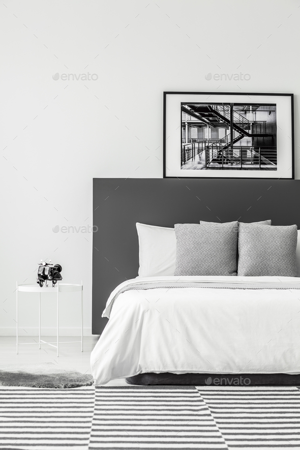 Minimal hotel room interior - Stock Photo - Images