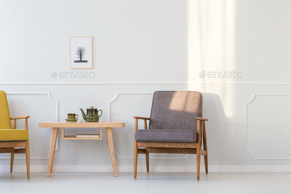 Minimal living room interior - Stock Photo - Images