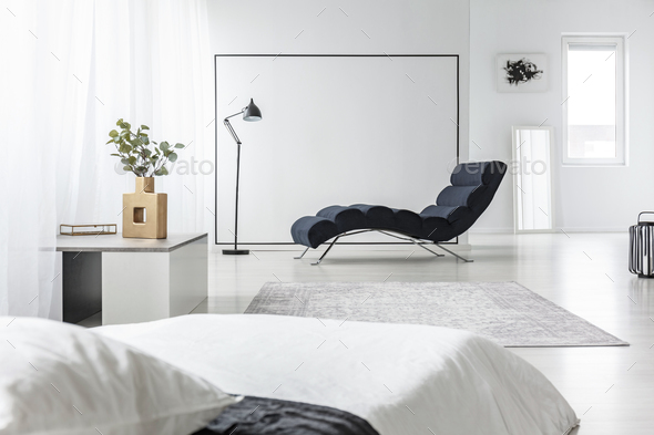 Open space with chaise lounge - Stock Photo - Images
