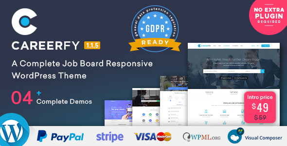 Careerfy - Job Board WordPress Theme - Directory & Listings Corporate