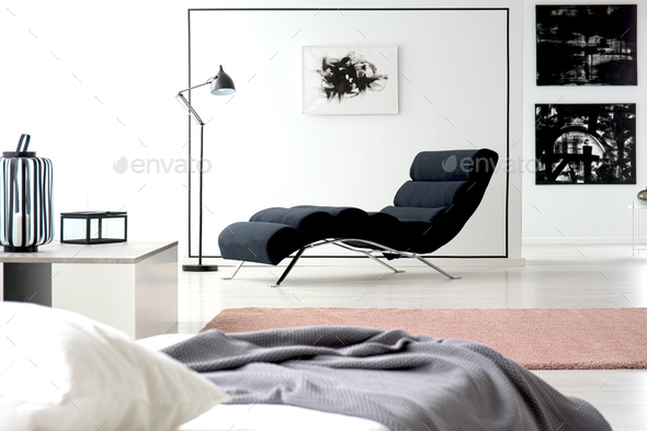 Painting and chaise lounge - Stock Photo - Images