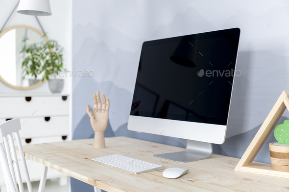 Close-up of workspace interior - Stock Photo - Images