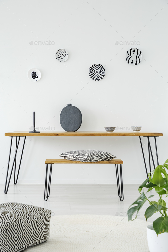 Patterned living room interior - Stock Photo - Images