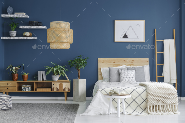 Cozy bedroom interior - Stock Photo - Images