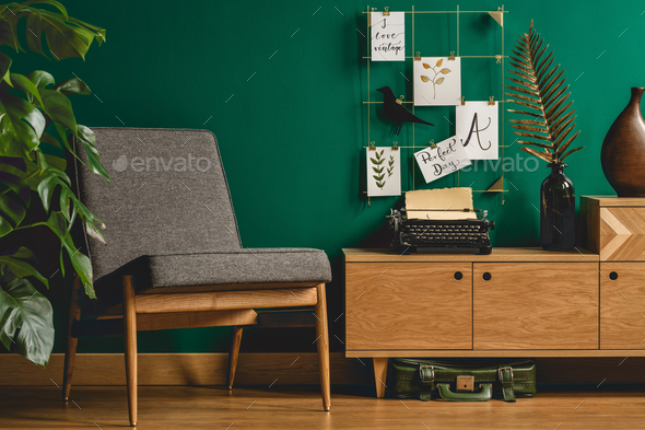 Armchair and wall organizer - Stock Photo - Images