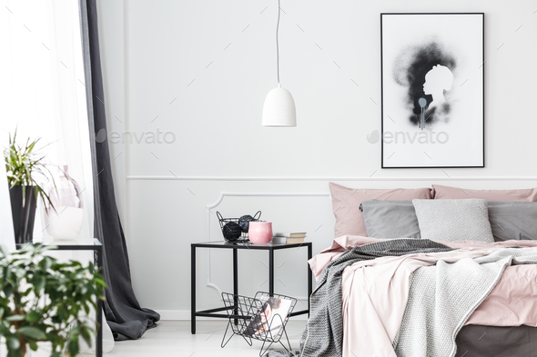 Handmade poster on white wall - Stock Photo - Images