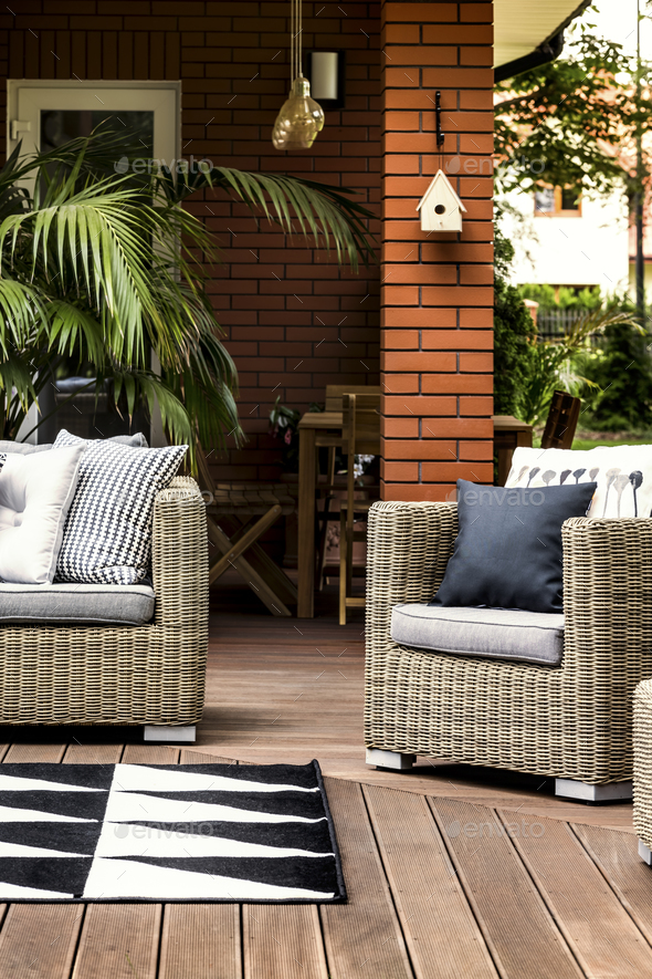 Summer house terrace - Stock Photo - Images
