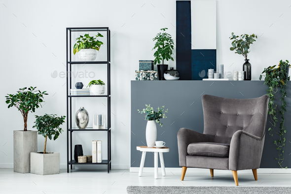 Modern sitting area - Stock Photo - Images
