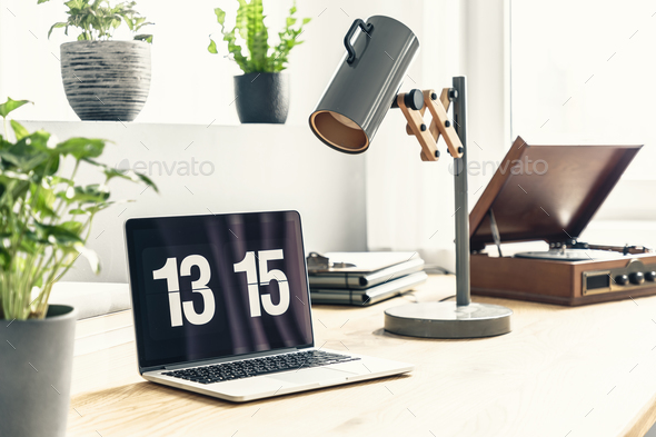 Workspace with laptop - Stock Photo - Images