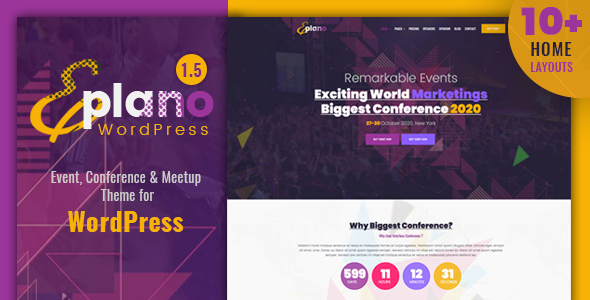 Image of Eplano - Event and Conference WordPress Theme