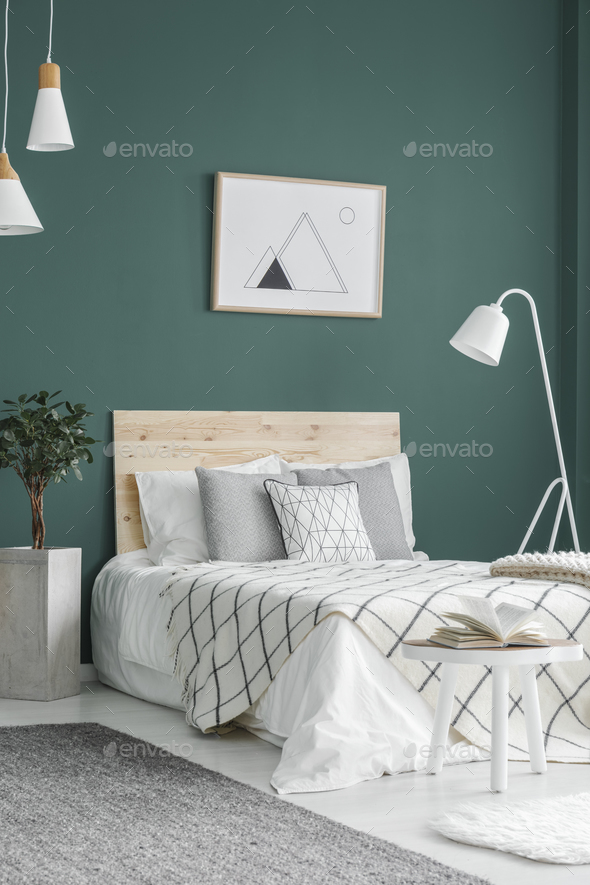 Double bed and lamps - Stock Photo - Images
