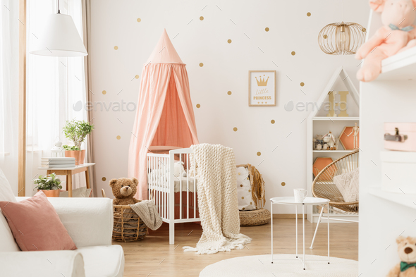 Nursery room with dots - Stock Photo - Images