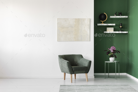 Simple interior with armchair - Stock Photo - Images