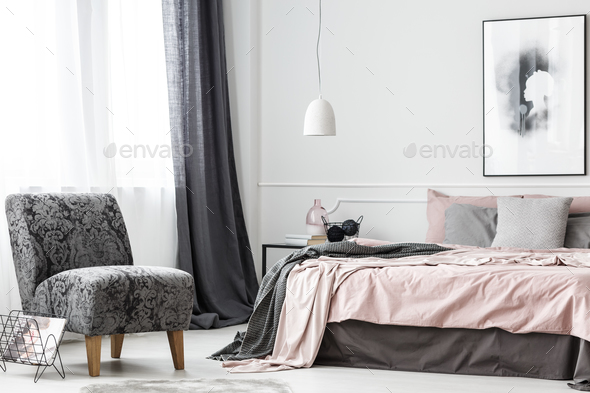 Elegant female bedroom interior - Stock Photo - Images